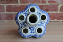 Two's Company 6-Hole Blue and White Porcelain Tulip Vase