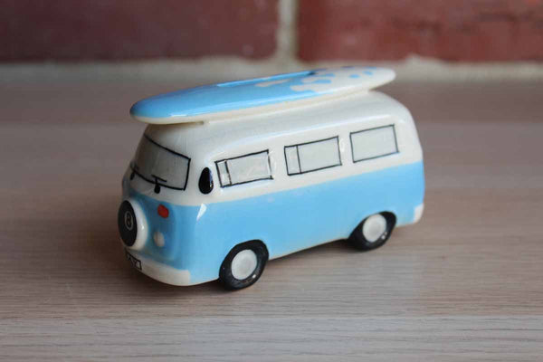 Global Giftware Volkswagen Bus with Surfboard Small Coin Bank