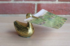 Brass Duck Recipe Holder/Paper Catchall