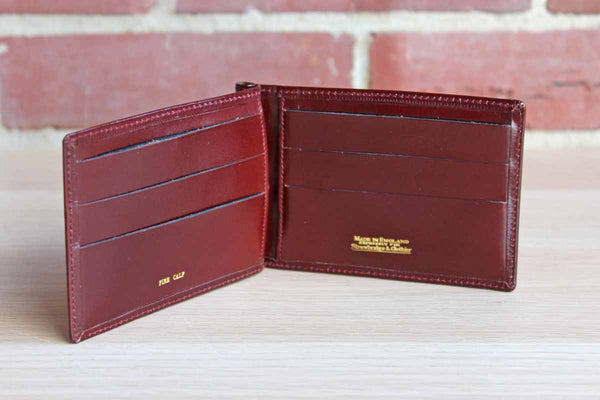 Brown Leather Bifold Credit Card Wallet from Strawbridge & Clothier