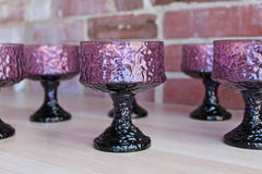 Lenox (USA) Impromptu Lavender Champagne or Sherbet Stemmed Glasses, Set of 7