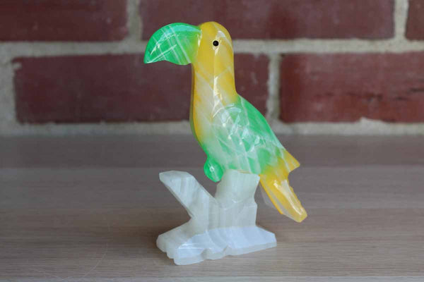 Alabaster Toucan Bird Figurine