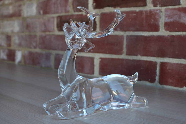 Solid Clear Acrylic 10 Point Buck Figurine