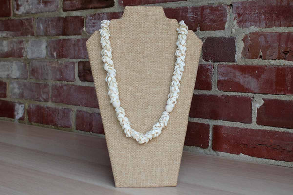 Glossy White Seashell Necklace