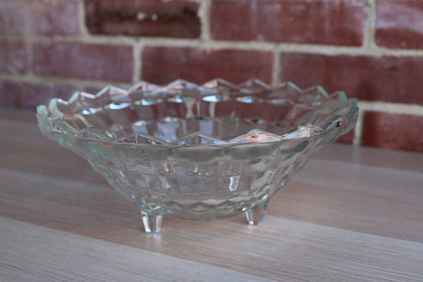 Fostoria Glass Company (West Virginia, USA) American Clear Glass Footed Serving Bowl