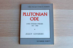 Plutonian Ode and Other Poems 1977-1980 by Allen Ginsberg