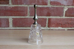 Royal Crystal Rock (Italy) 24% Lead Crystal Dinner Bell with Silver Plated Handle