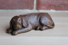 Cast Resin Labrador Business Card or Cell Phone Holder