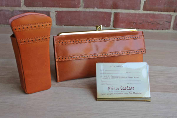 Prince Gardner (Missouri, USA) Princess Gardner Tan Leather Wallet and Matching Eyeglass Case