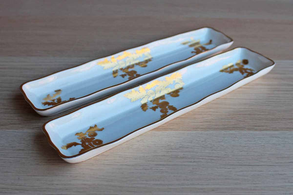 Hammersley (England) Golden Tansy Bone China Small Trays, A Pair