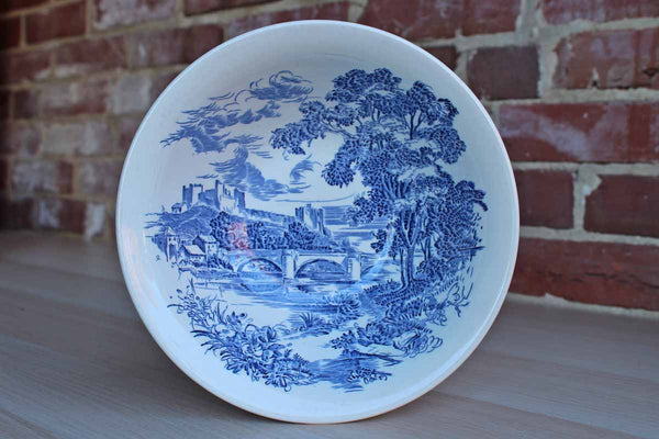Wedgwood (England) Countryside Blue Large Round Bowl