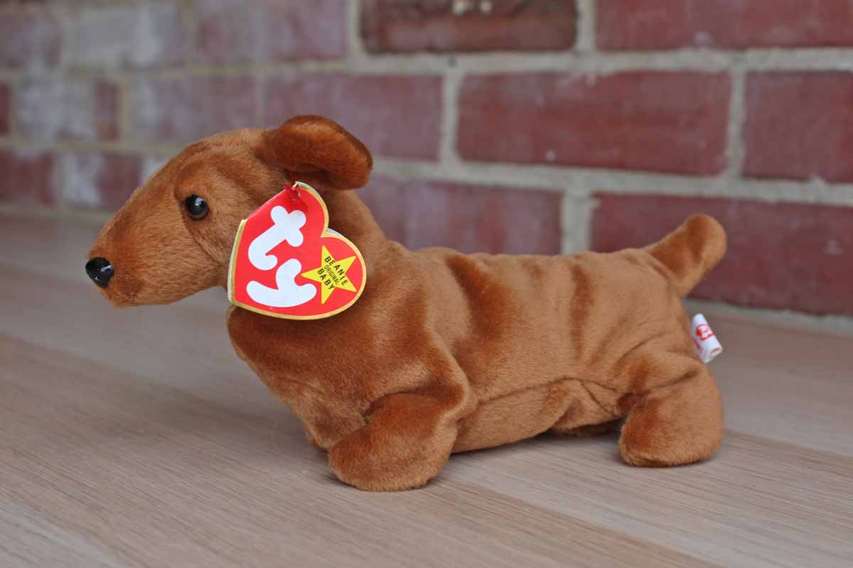 Ty Beanie Baby Wiener Dog - Parchment N Lead e1919bc175d