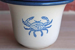 W.A. Painter Pottery Works (Kansas, USA) Ceramic Dip Chiller with Crab Decoration