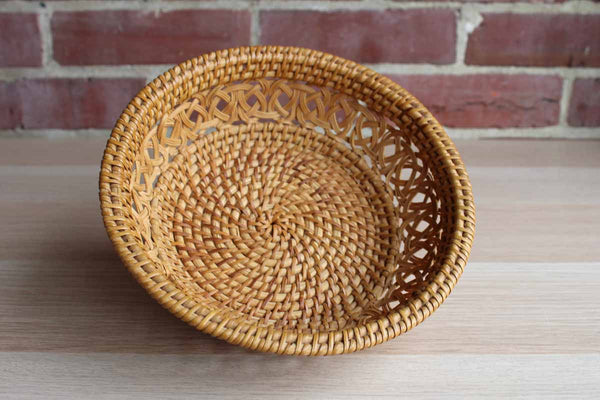 Hand Woven Decorative Round Basket