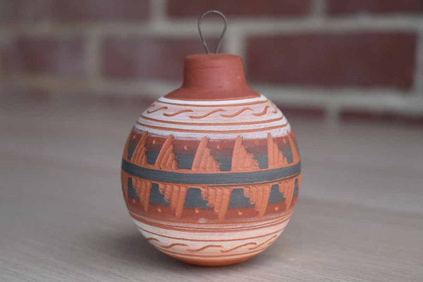 Navajo Pottery Etched Sgraffito Hanging Ornament