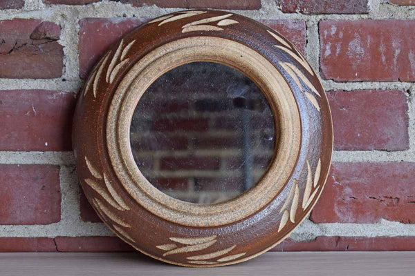 Mirror with Handmade Stoneware Frame