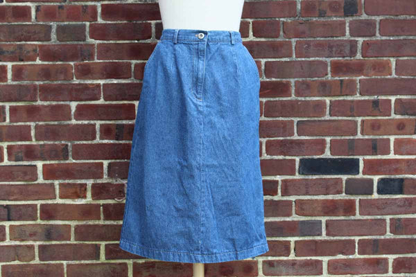 Sag Harbor Petites Mid-Length Denim Skirt