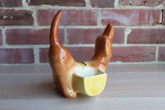 A.L. Hirsch Pottery Ceramic Dachshund Coin Bank and Dresser Caddy