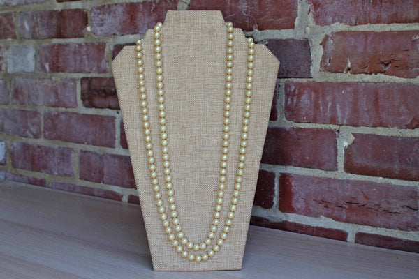 Opera-Length Pearl Necklace with Hand-Knotted Spacing