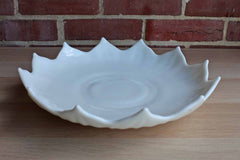 Westmoreland Glass Company (Pennsylvania, USA) Flower-Shaped Milk Glass Serving or Cake Plate