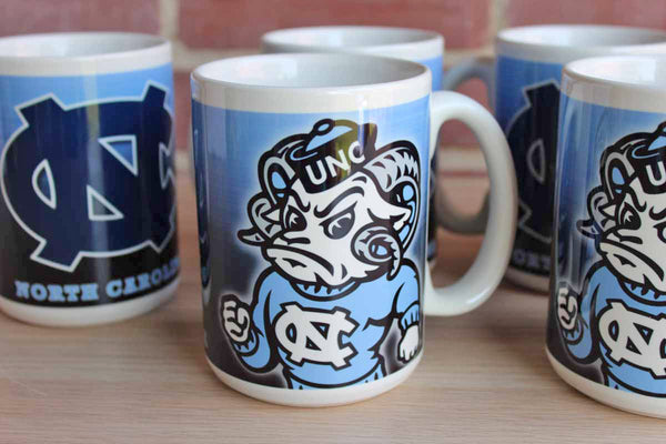 The University of North Carolina Large Ceramic Coffee Mugs, Set of 6