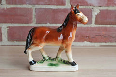 Hand-Painted Ceramic Horse Figurine, Made in Japan