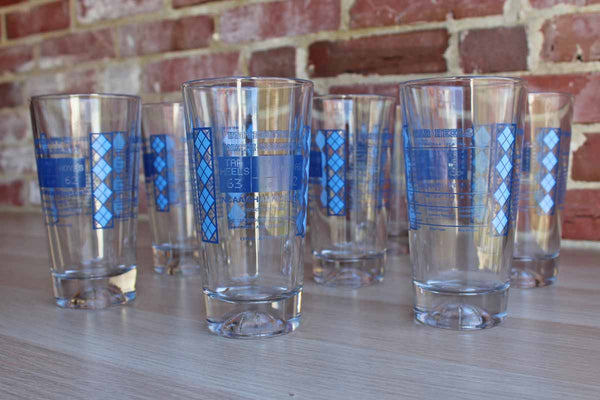 Pint Glasses Honoring The University of North Carolina Basketball Championship of March 29, 1982, 8 Glasses