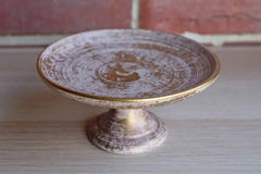 Royal Haeger Potteries (Illinois, USA) 22K Gold Tweed Pedestal Stand