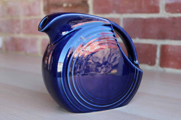 "Fiestaware by Homer Laughlin China Company (West Virginia, USA) Cobalt Blue 6"" Disc Pitcher (Older)"