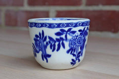 Sterling China Company (Ohio, USA) Vitrified Blue and White China Cup Decorated with Flowers
