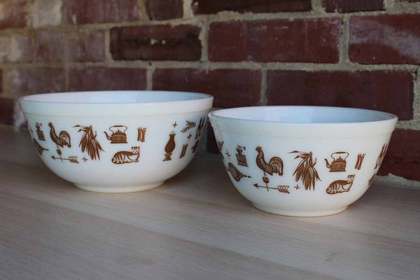 Corning Inc. (New York, USA) Early American Brown Mixing Bowls