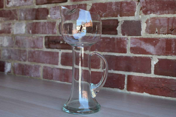 Unique Clear Glass Handled Carafe