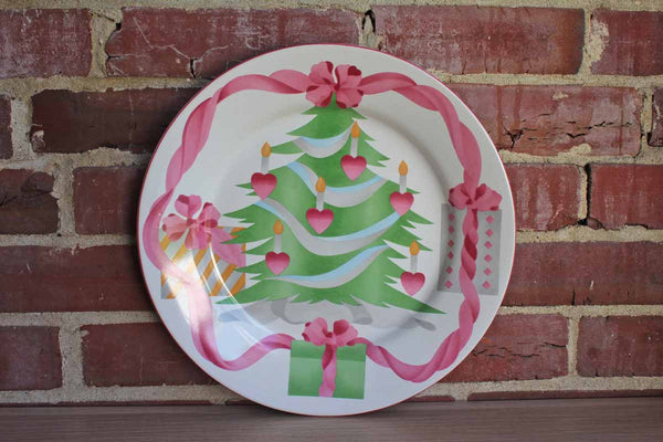 "Sango (Indonesia) Home for Christmas 12"" Round Platter"
