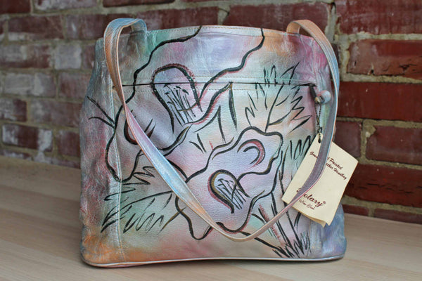 Botary (New York, USA) Handpainted Genuine Leather Handbag
