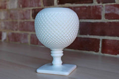 Westmoreland Glass Company (USA) Milk Glass English Hobnail Ivy Ball Vase