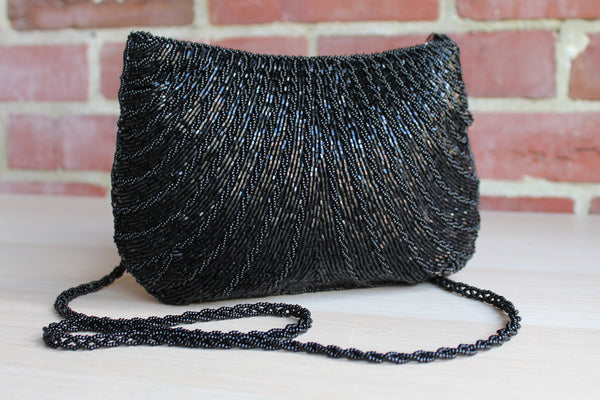 Cadaz (China) Black Beaded Purse