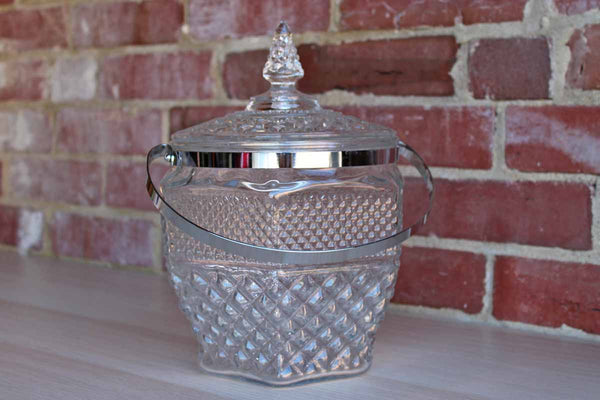 Anchor Hocking (Ohio, USA) Wexford Clear Pressed Glass Biscuit Jar