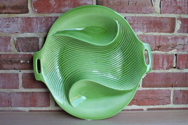 Florence Ceramics Company (California, USA) Green Divided Tray