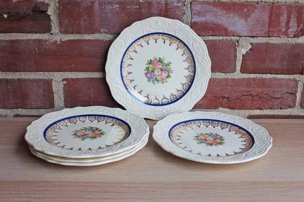 Steubenville China (Ohio, USA) Adam Antique Dessert Plates, Set of 5