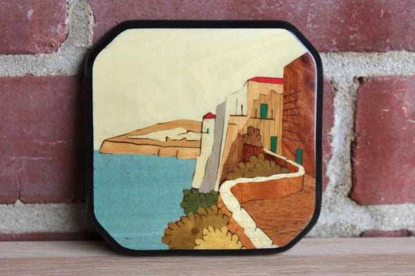 Sorrento Italy Wood Inlaid Drink Coaster
