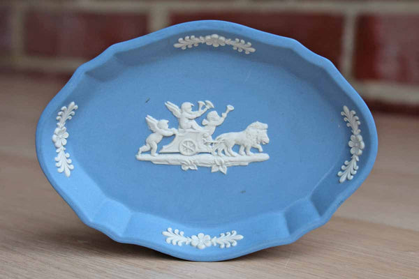 Wedgwood (England) Jsaperware Dish with Cupids Pulled by Lions