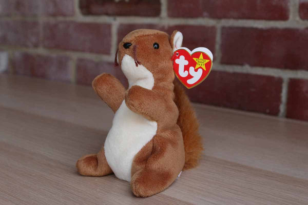 Ty Inc. (Illinois, USA) 1996 Nuts the Squirrel Beanie Baby