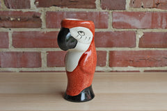 Speckled Burnt Orange Ceramic Parrot Vase