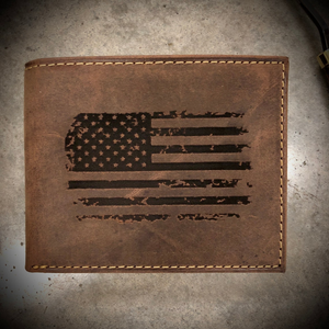 NEW Distressed Leather Wallet Styles