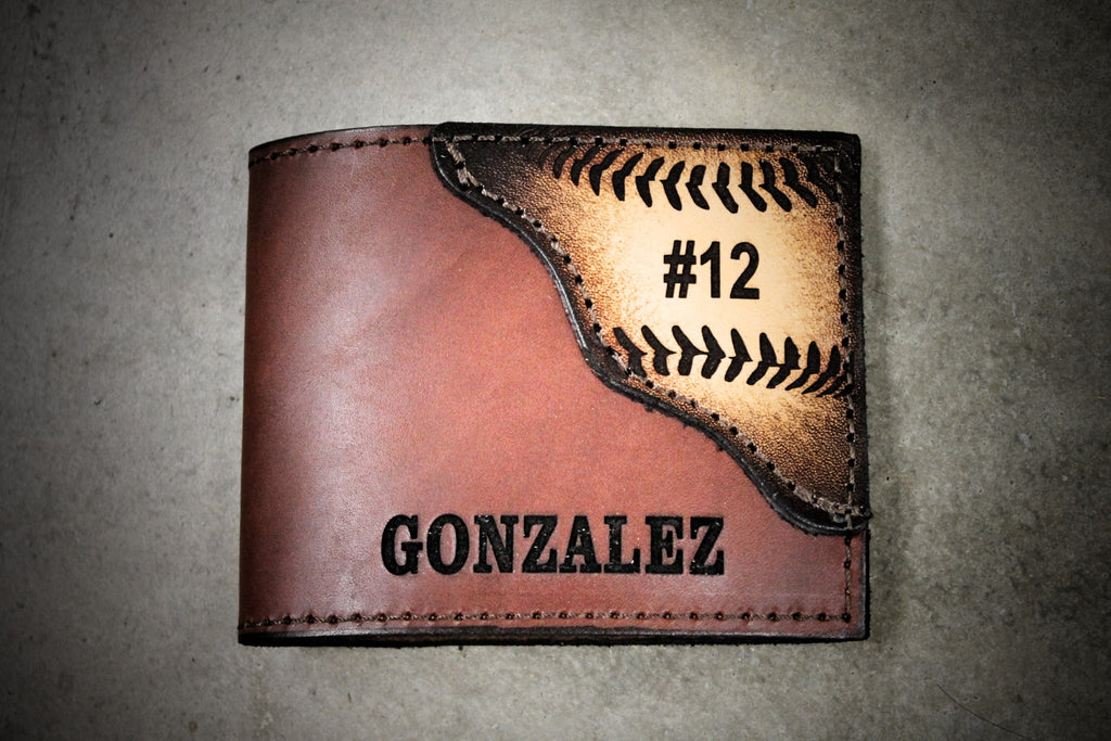 BASEBALL WALLET, Initials and player # engraved Free