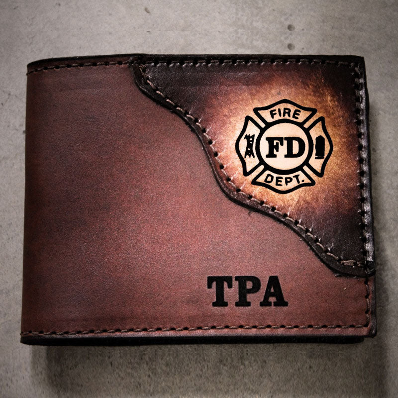 Fire Department Leather Wallet | Miller's Leather Shop