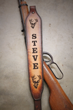 DEER RIFLE SLING, BUCK RIFLE SLING, Personalized Rifle Sling