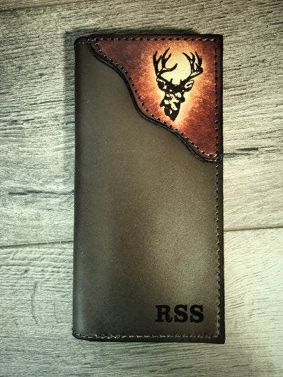 Deer Roper Wallet, Handcrafted by Miller's Leather Shop, Made in the USA