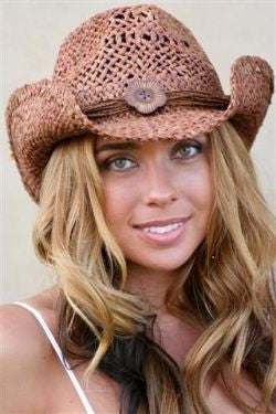 Girly Western Straw Hat