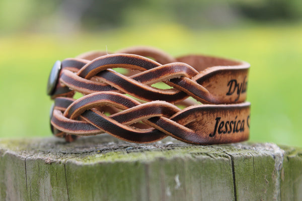 Couple's Bracelet Set -- Custom Engraved Free